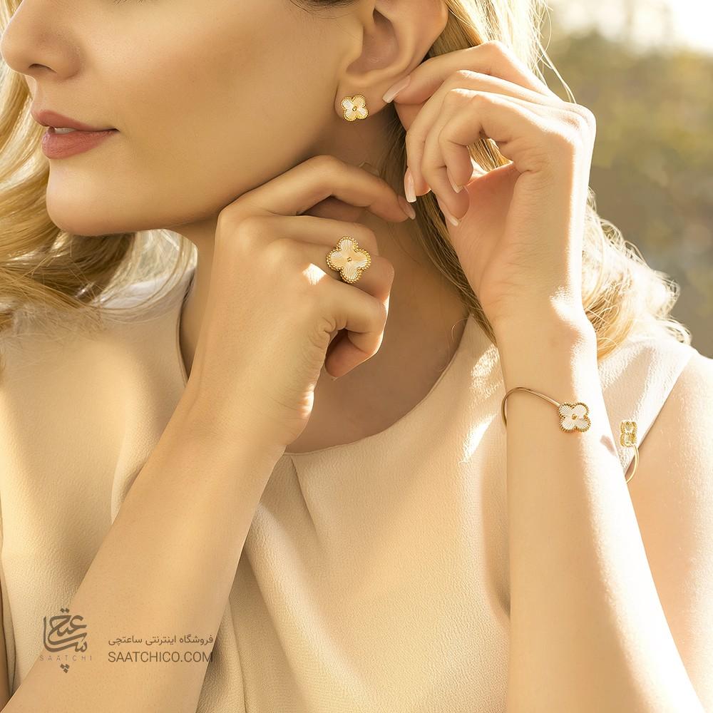 انگشتر طلا زنانه طرح ونکلیف