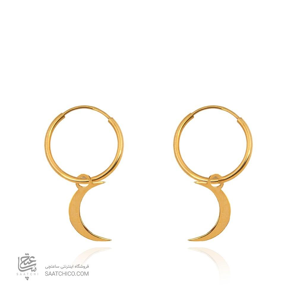 گوشواره حلقه با آویز ماه