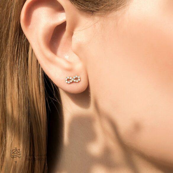 گوشواره نگین دار