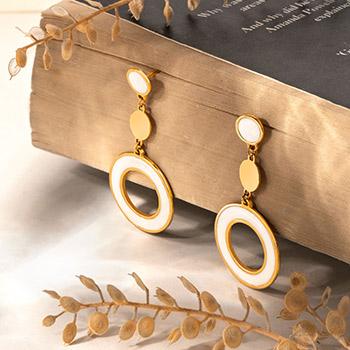 گوشواره طلا با میناکاری