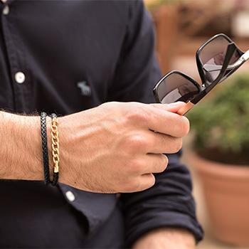 دستبند کارتیه با چرم