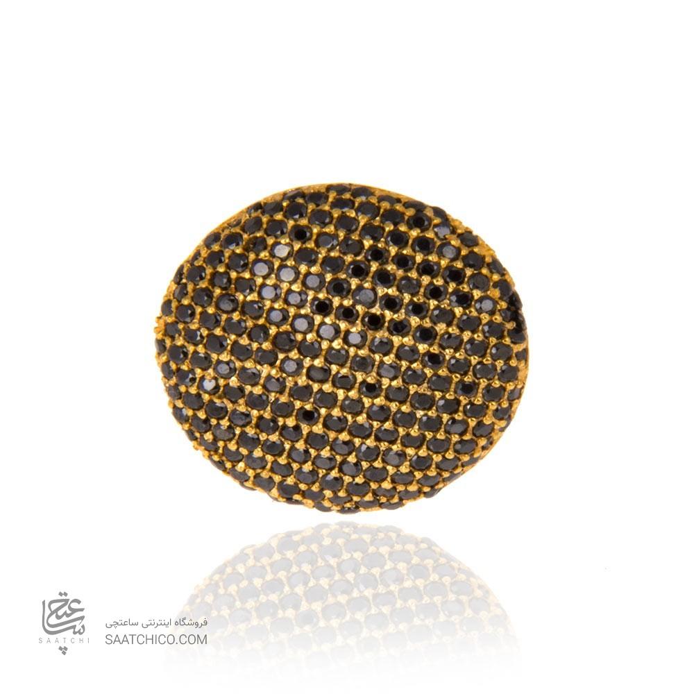 انگشتر طلا زنانه با نگین cz کد cr301