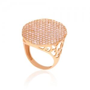 انگشتر طلا زنانه با نگین کد cr301
