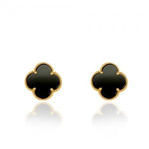 گوشواره طلا زنانه طرح گل چهار پر ونکلیف کد XE206