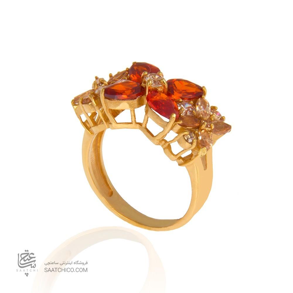 انگشتر طلا زنانه با نگین کد cr308