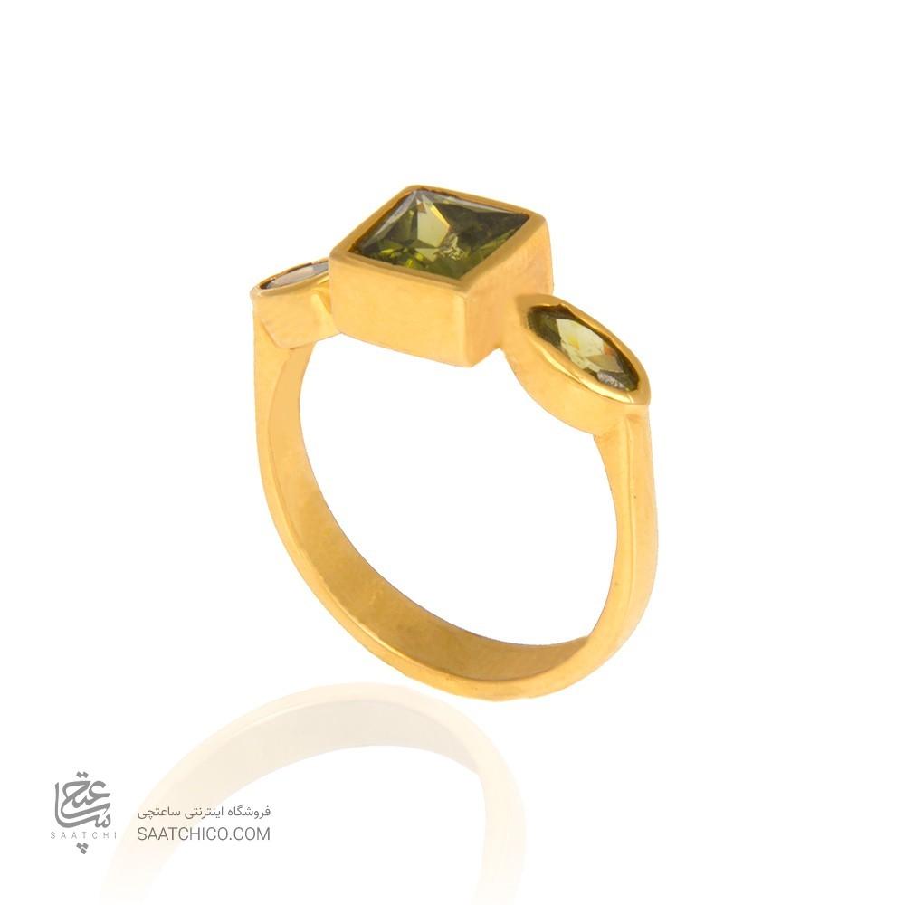 انگشتر طلا زنانه با نگین cz  کد cr310