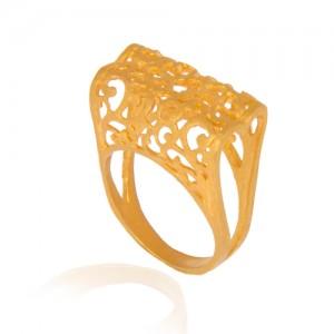 انگشتر طلا زنانه طرح اسلیمی کد cr313