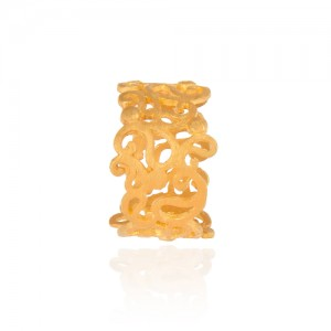 انگشتر طلا زنانه طرح اسلیمی کد cr317