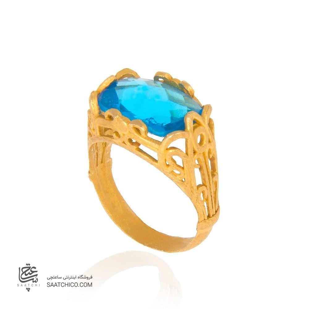 انگشتر طلا زنانه با سنگ کد cr319