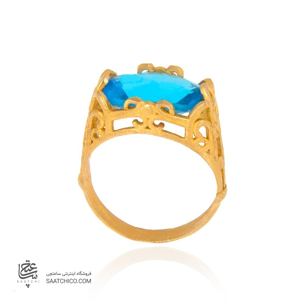 انگشتر طلا زنانه با سنگ cz کد cr319