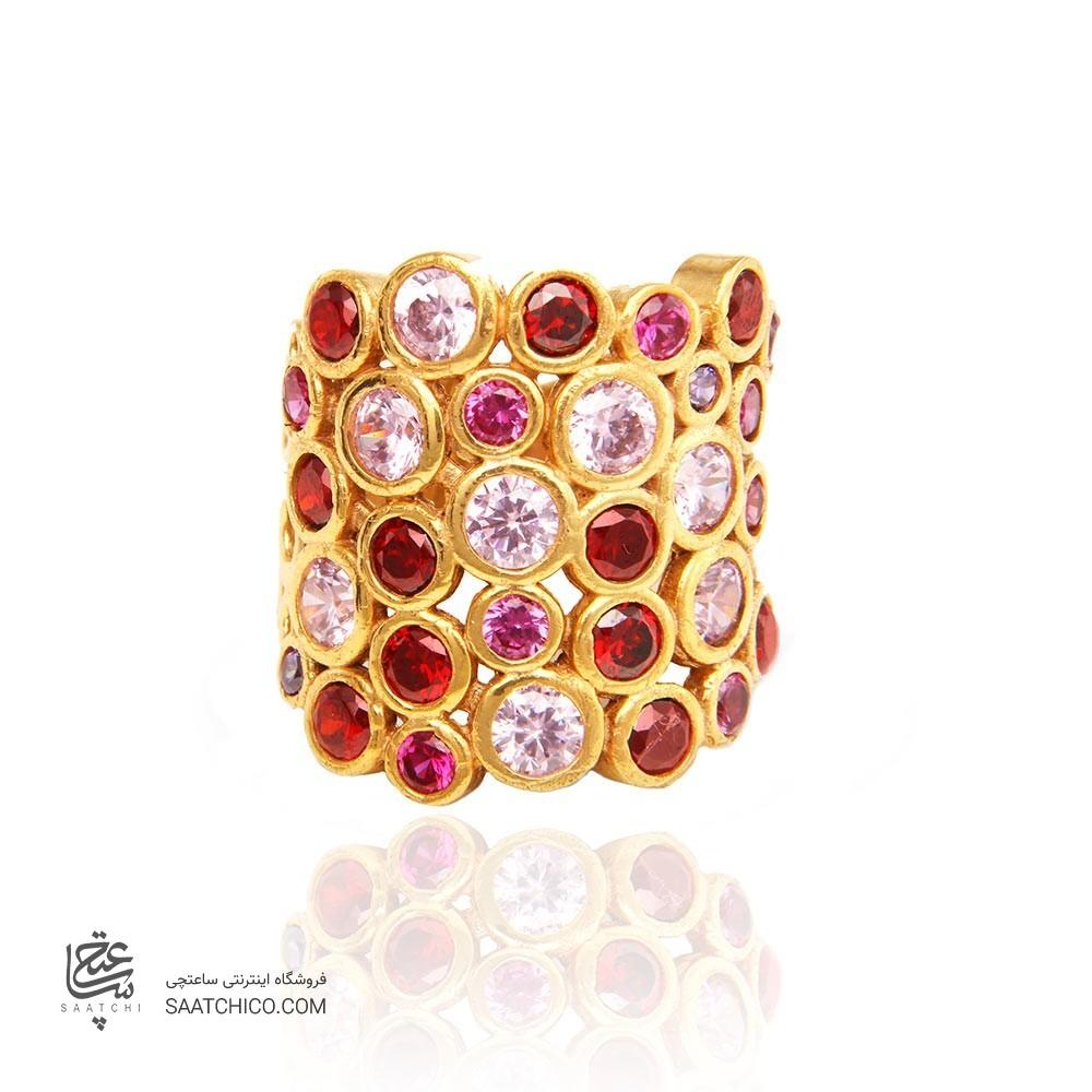 انگشتر طلا زنانه با نگین کد cr327