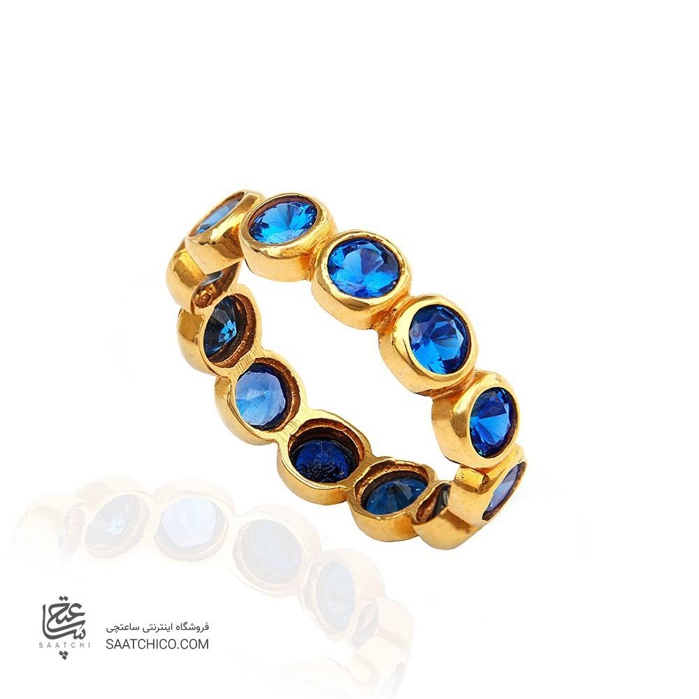 انگشتر طلا زنانه با نگین cz کد cr329