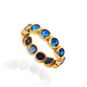 انگشتر طلا زنانه با نگین کد cr329