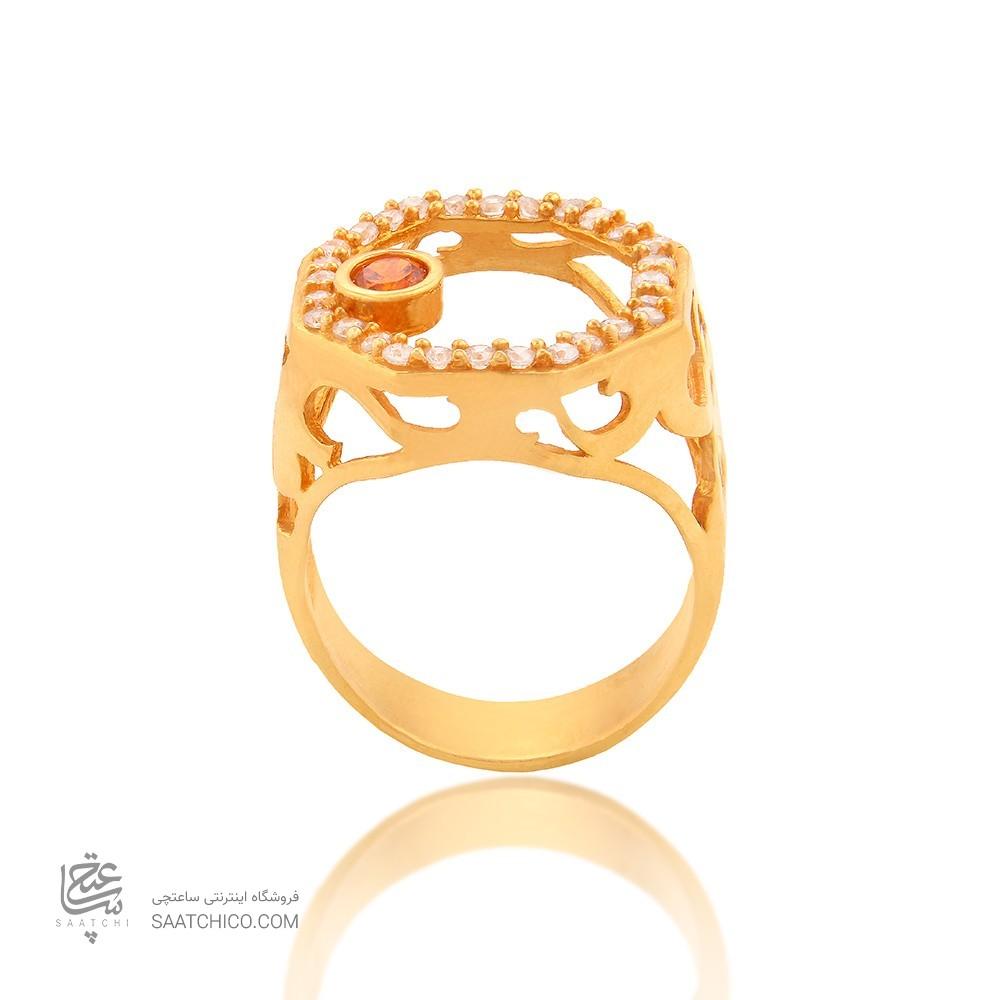 انگشتر طلا زنانه با نگین cz کد cr330