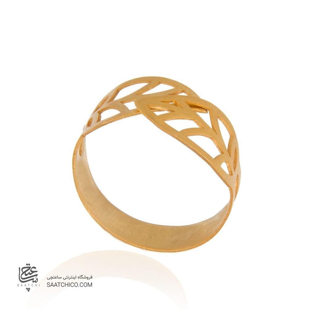انگشتر طلا زنانه طرح برگ کد lr601