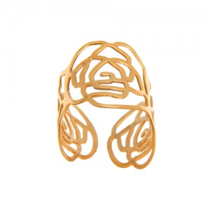 انگشتر طلا زنانه طرح گل شنل کد lr602