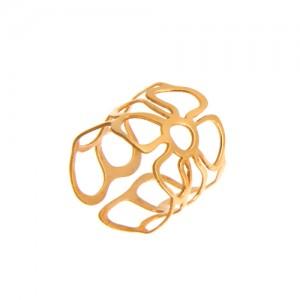 انگشتر طلا زنانه طرح گل کد lr603