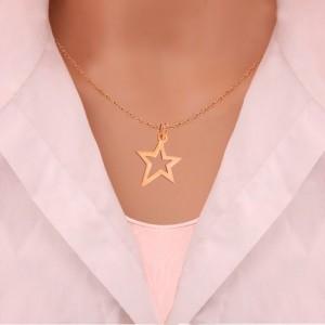 نیم ست طلا زنانه طرح ستاره کدLS603