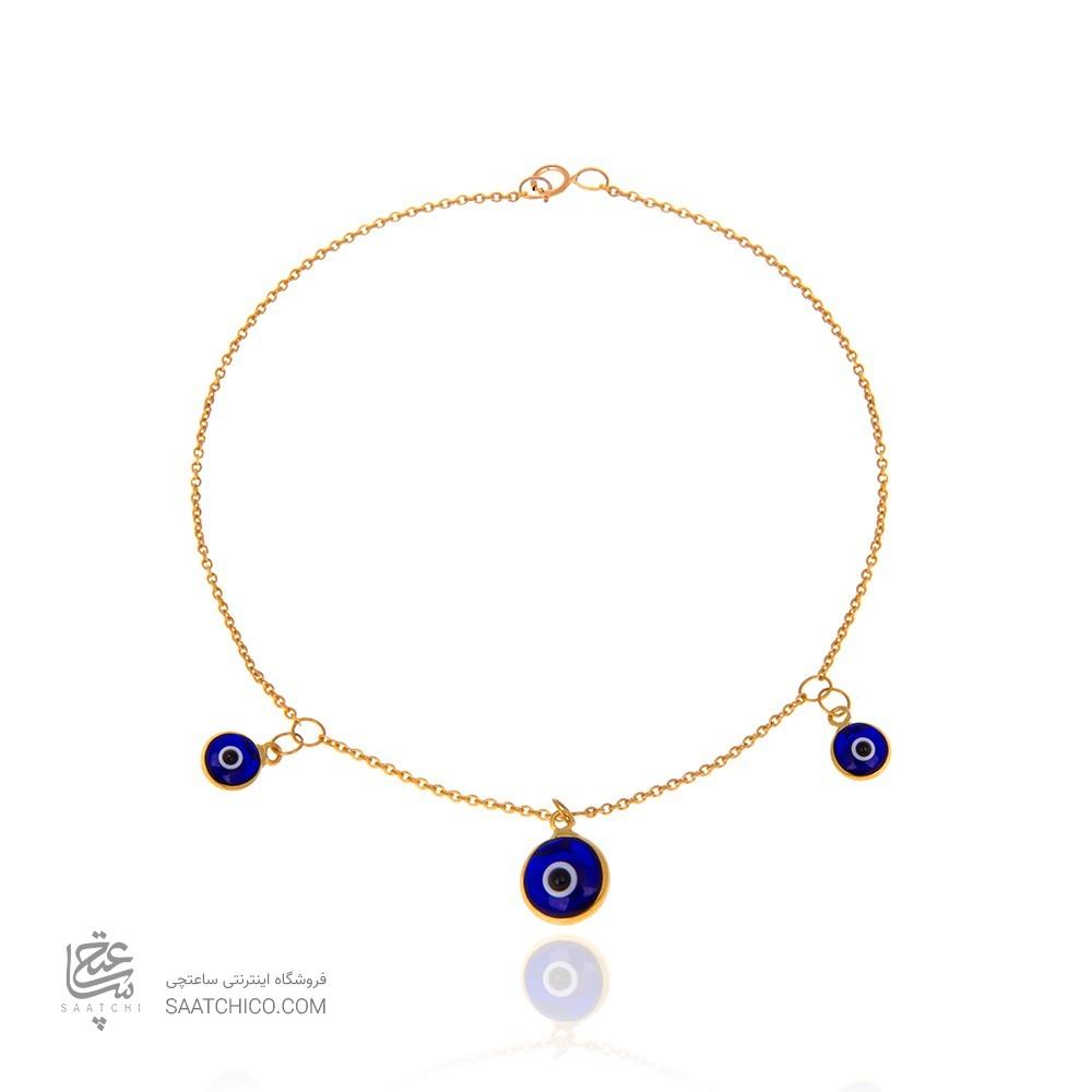 دستبند طلا زنانه با پولک چشم نظر کد CB313