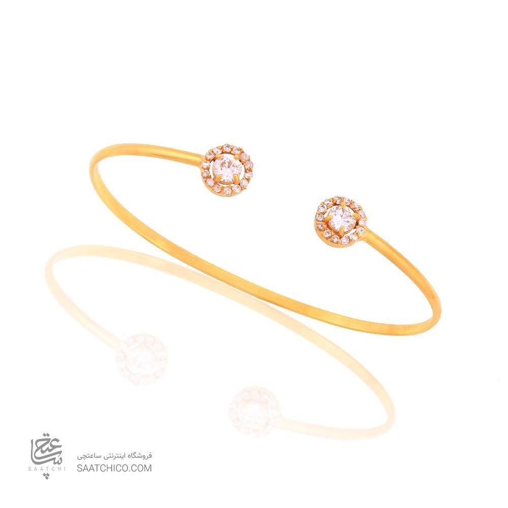 دستبند طلا زنانه با نگین کد CB318