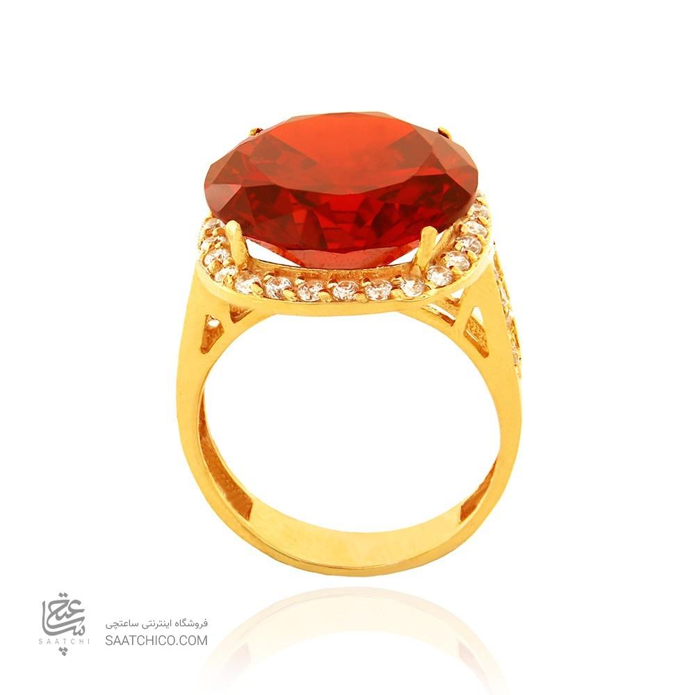 انگشتر طلا زنانه با سنگ و نگین cz کد cr340