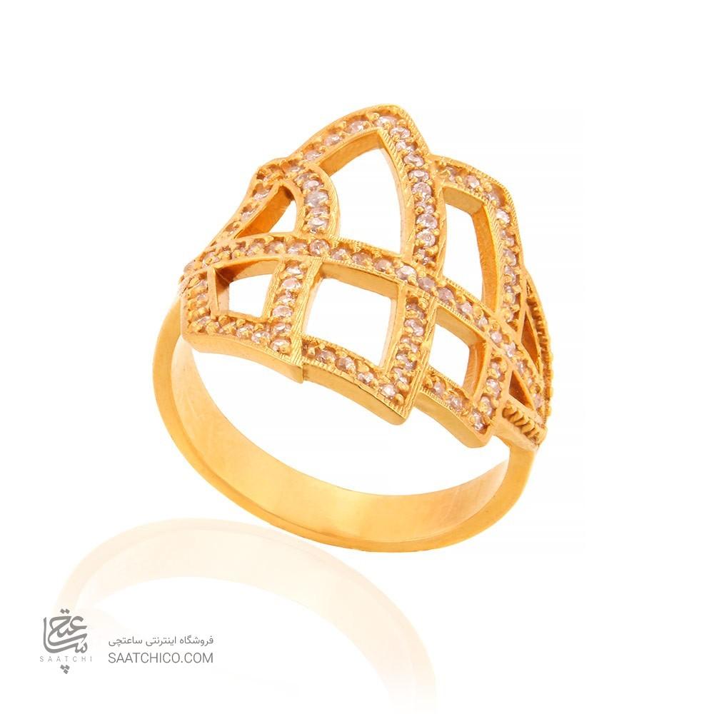 انگشتر طلا زنانه با نگین کد cr342