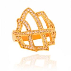 انگشتر طلا زنانه با نگین cz کد cr342