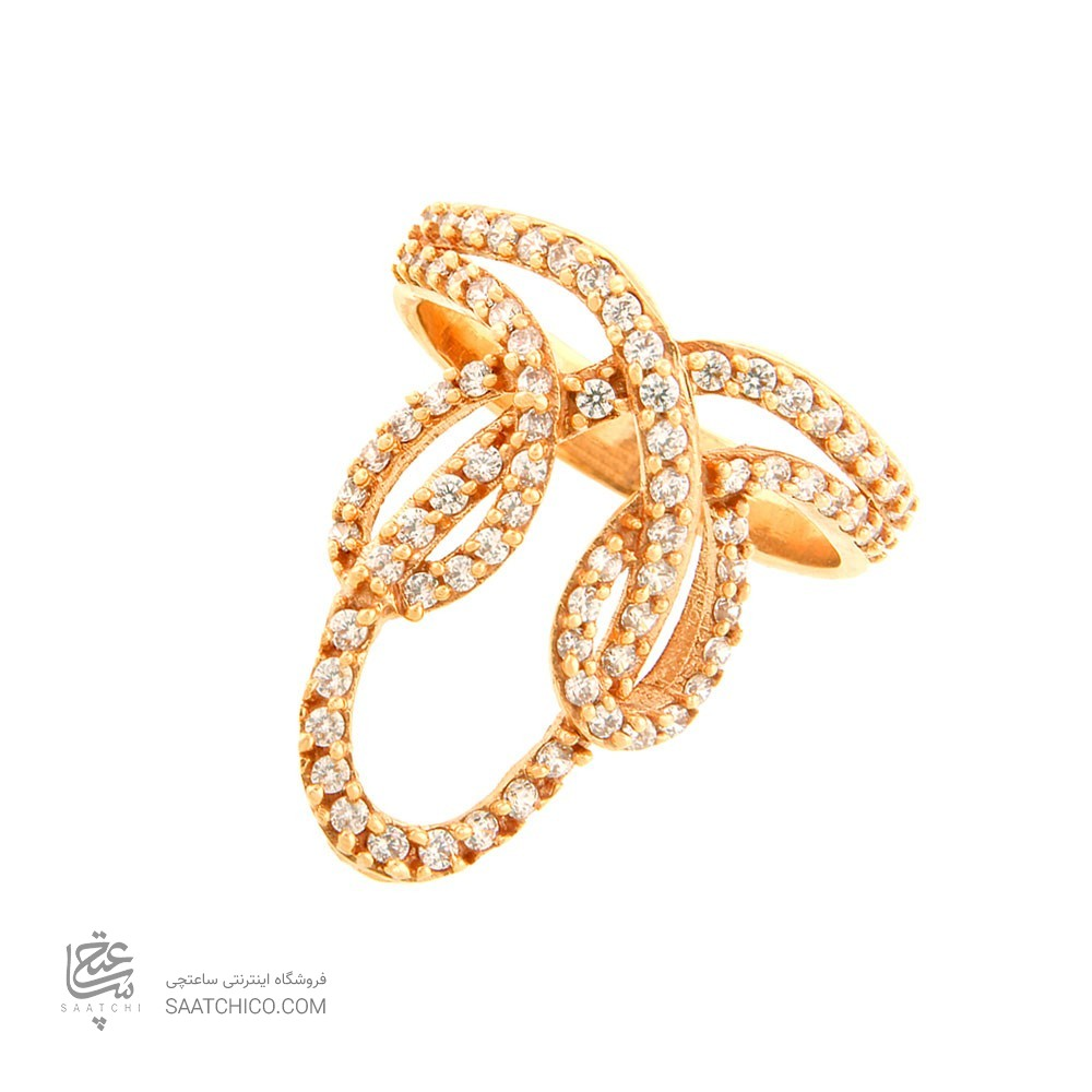 انگشتر طلا زنانه با نگین کد cr343