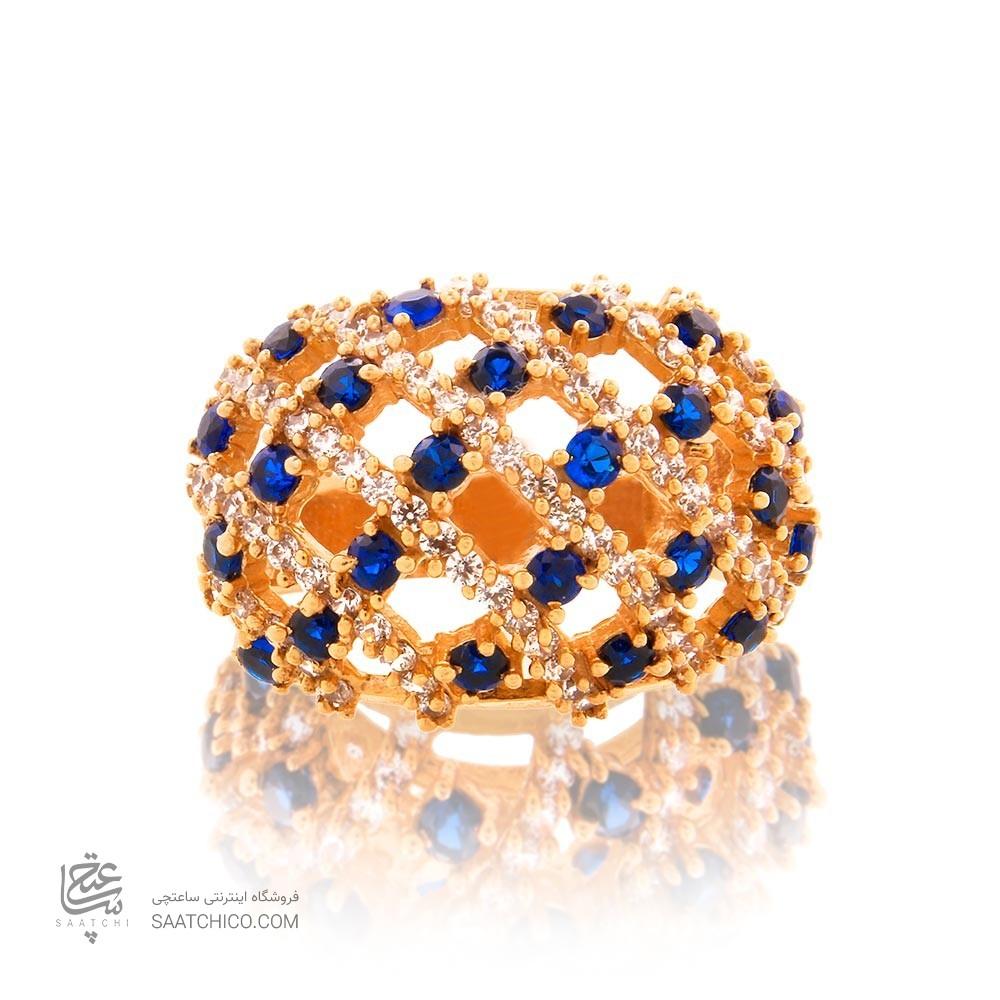 انگشتر طلا زنانه با نگین کد cr344