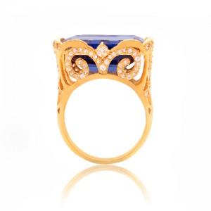 انگشتر طلا زنانه با سنگ و نگین cz کد cr345