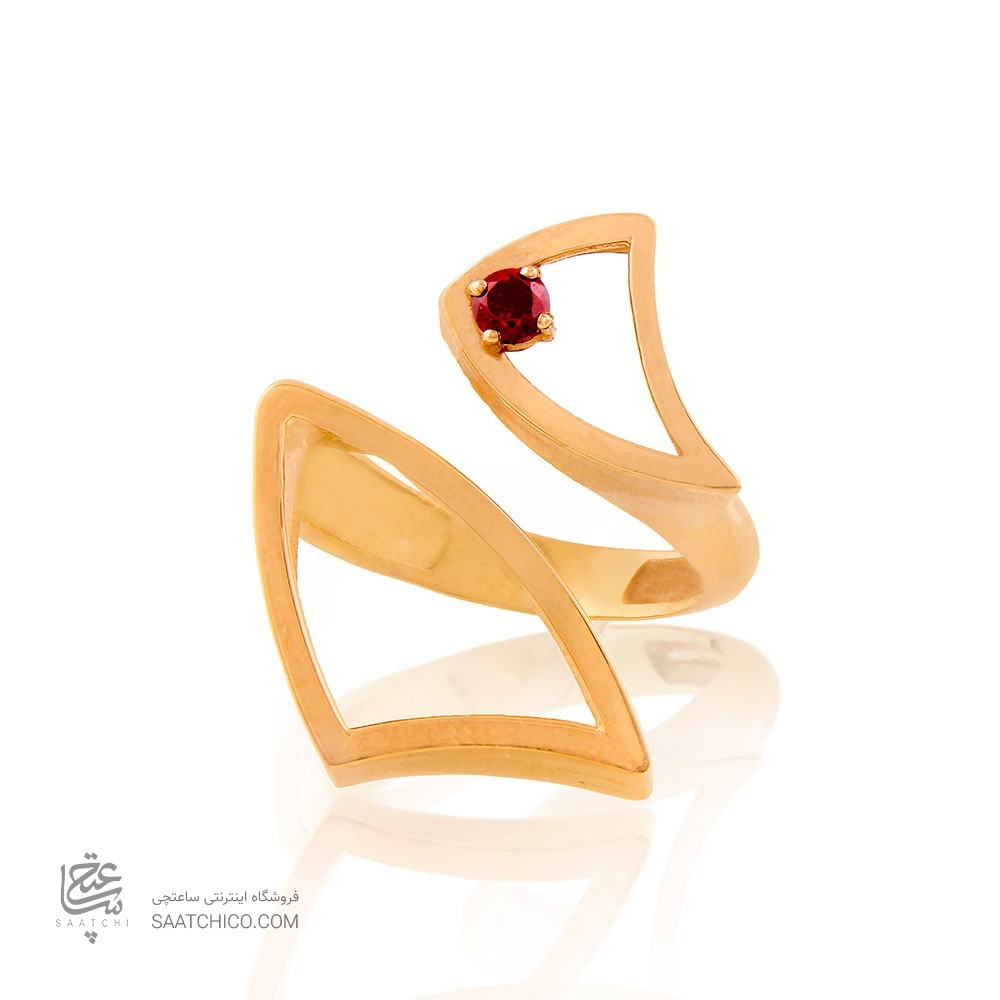 انگشتر طلا زنانه با نگین cz کد cr347