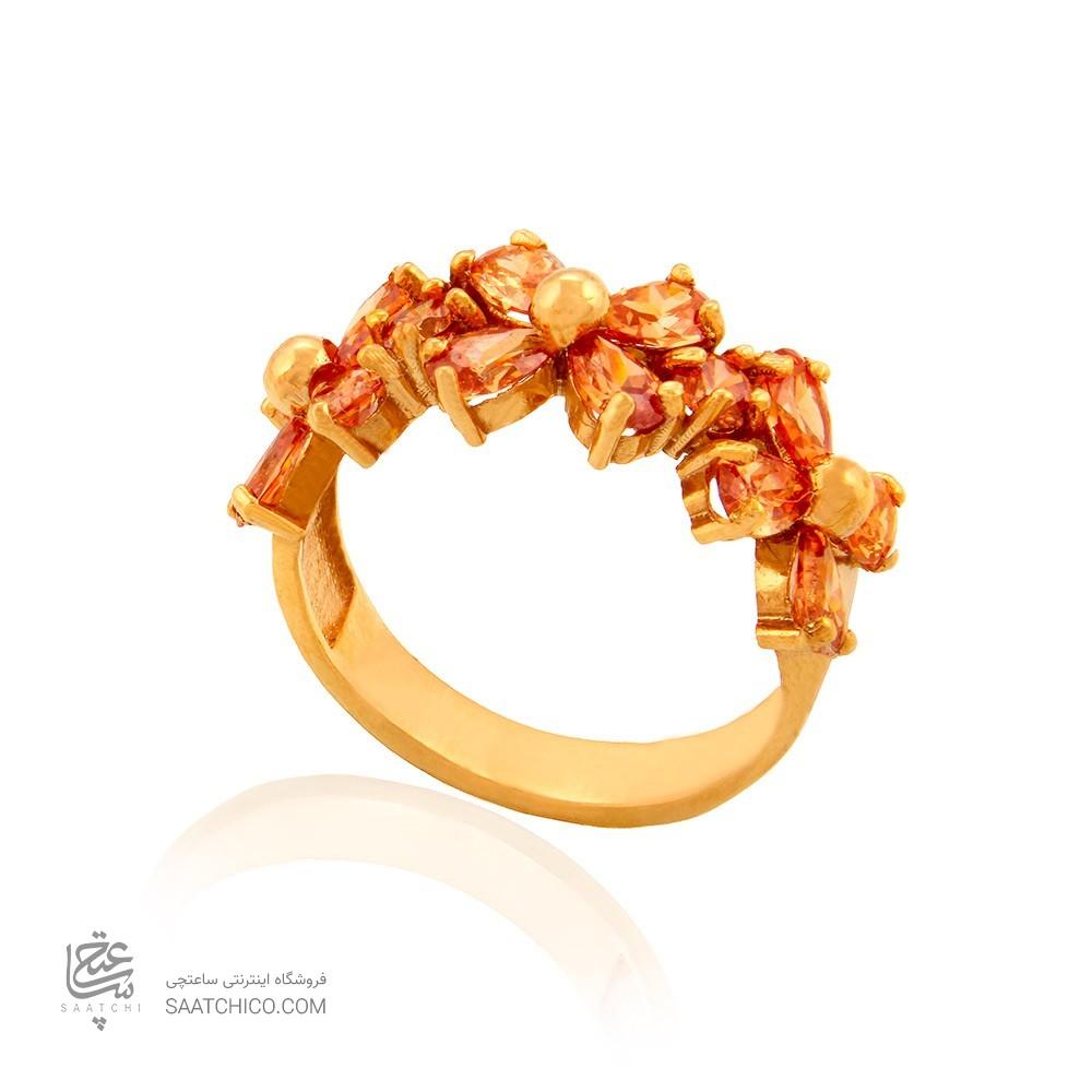 انگشتر طلا زنانه با نگین کد cr353