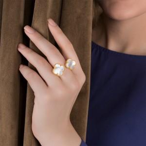 انگشتر طلا زنانه طرح ونکلیف کد cr354