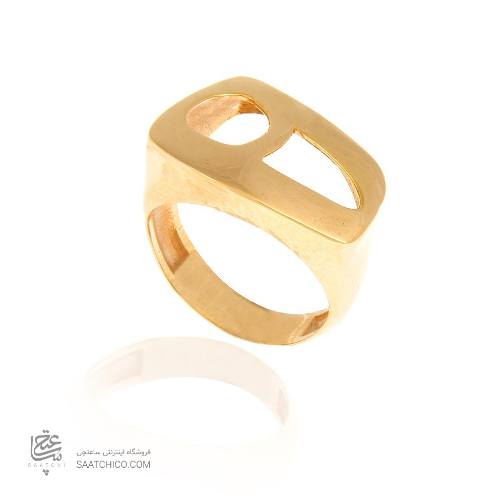 انگشتر طلا زنانه طرح نیمانی کد cr361