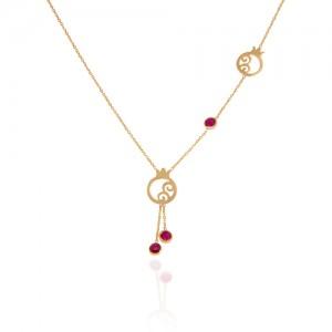 گردنبند طلا زنانه طرح انار کد CN310