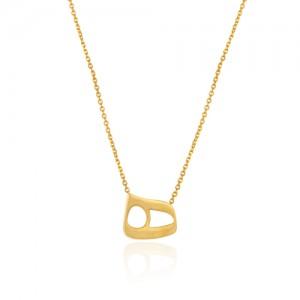 گردنبند طلا زنانه طرح نیمانی کدCN340