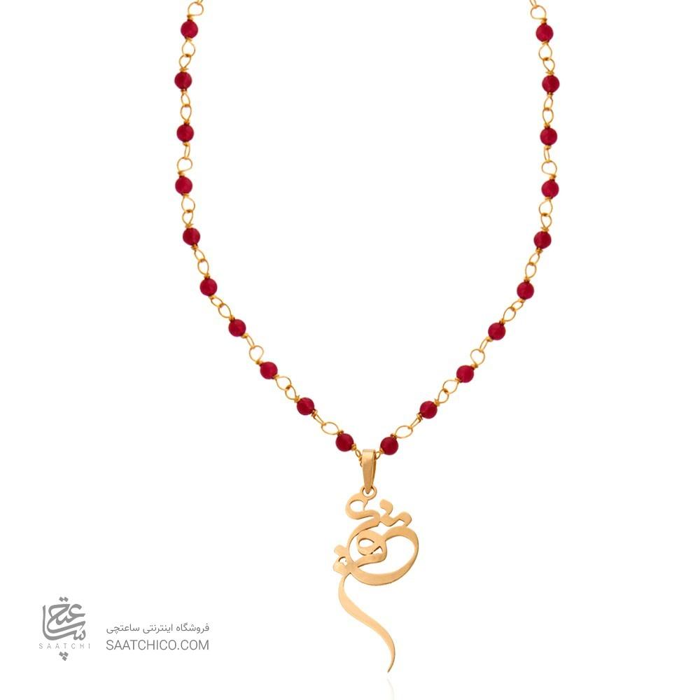 گردنبند رولباسی طرح عشق ولنتاین با سنگ کد XN603