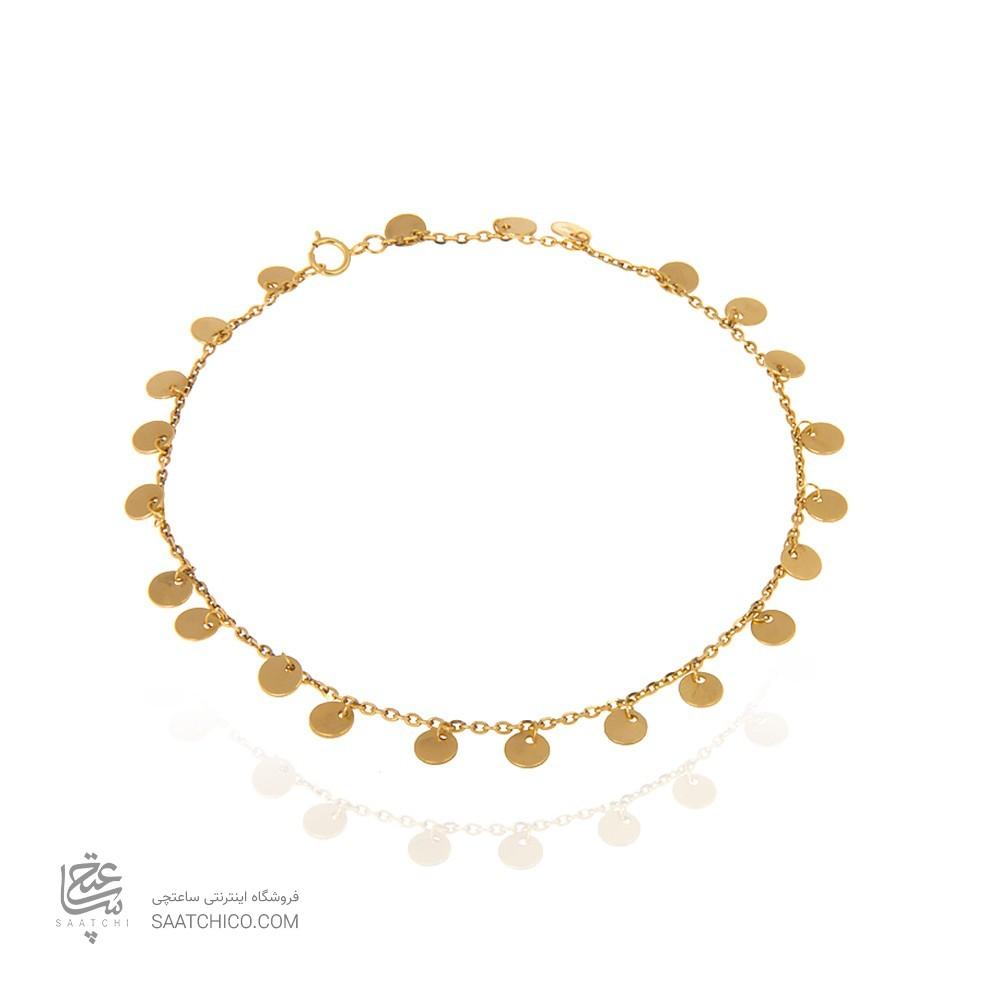 پابند طلا زنانه با پولک کد LA701