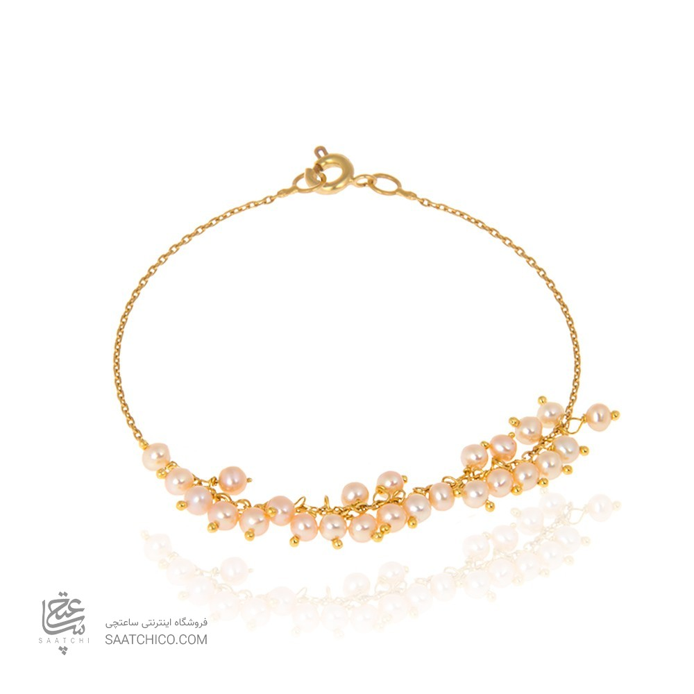 پابند طلا زنانه با مروارید کد XA104