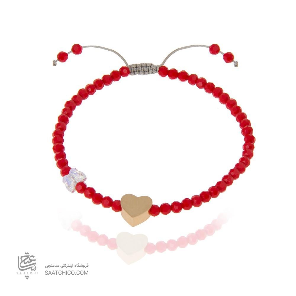پابند طلا زنانه طرح قلب کد xa101