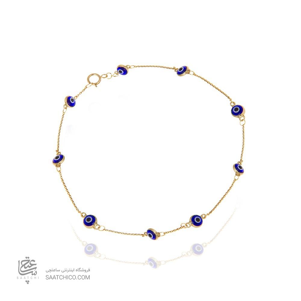 پابند طلا زنانه طرح چشم نظر کد XA110