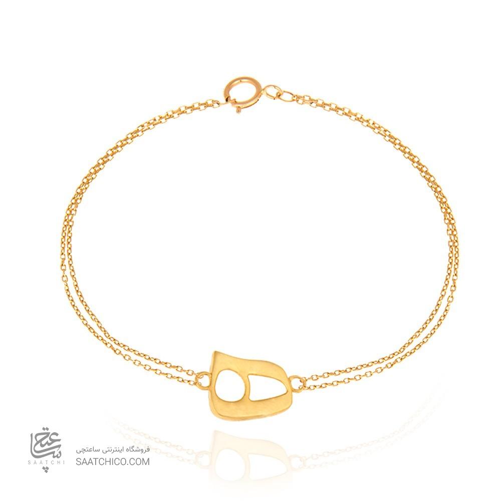 دستبند طلا زنانه طرح نیمانی کد CB325