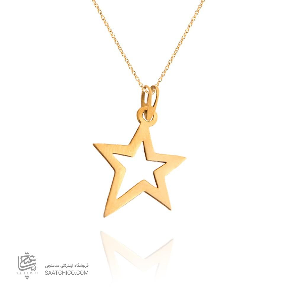 آویز طلا زنانه طرح ستاره کد lp603
