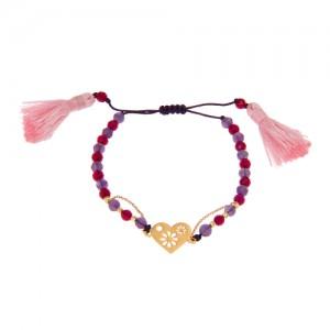 دستبند طلا زنانه طرح قلب ولنتاین کد xb802