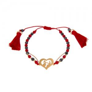 دستبندطلا زنانه طرح عشق ولنتاین کد xb804