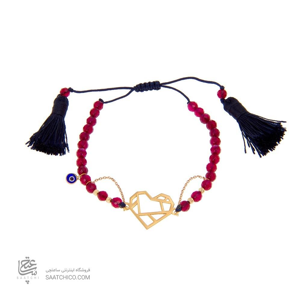 دستبند طلا زنانه طرح قلب ولنتاین کد xb805
