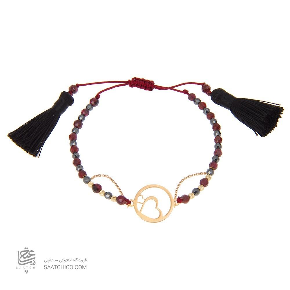 دستبند طلا زنانه طرح عشق ولنتاین کد xb806
