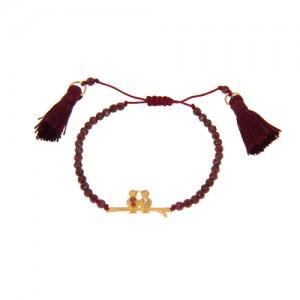 دستبند طلا زنانه طرح پرنده با نگین کد xb807