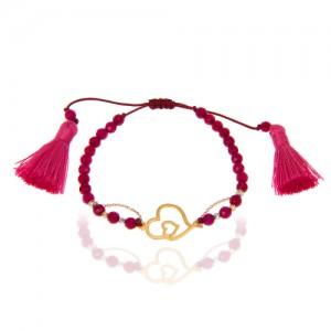 دستبند طلا زنانه طرح قلب ولنتاین کد xb808