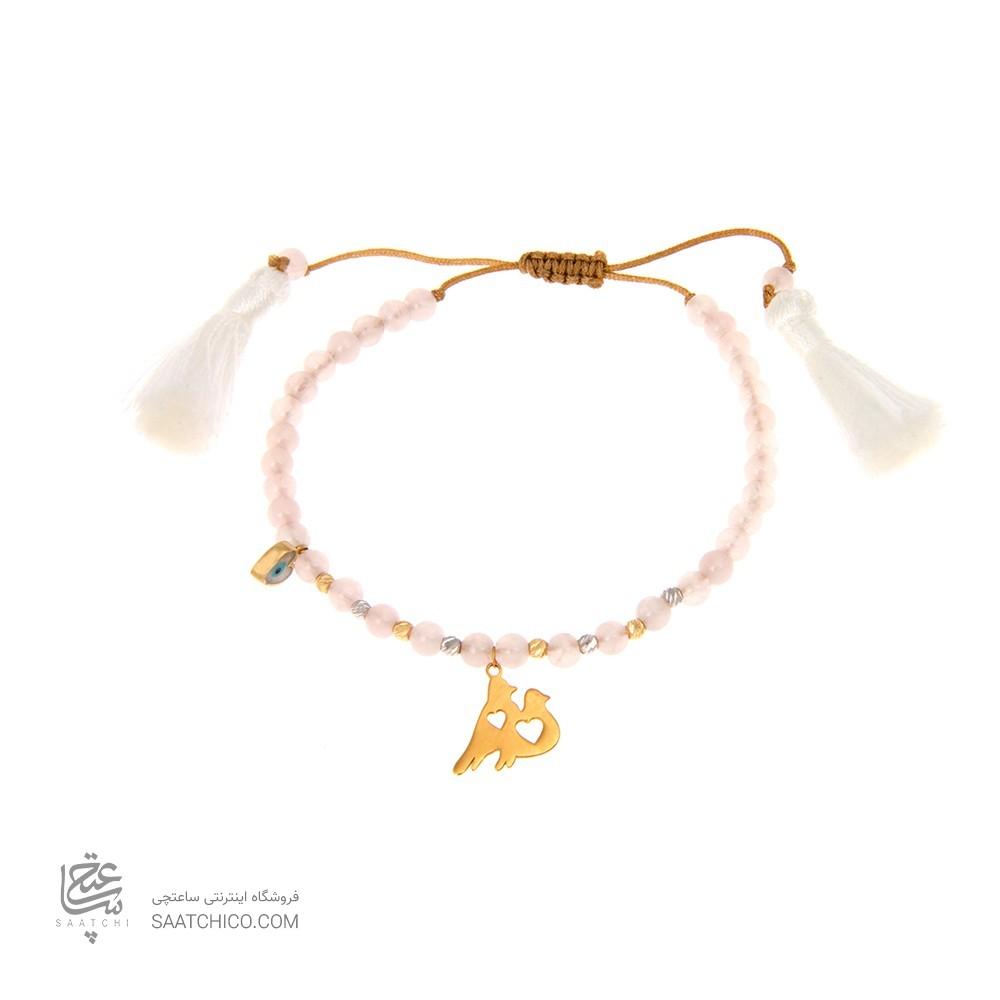 دستبند طلا زنانه طرح عشق ولنتاین کد xb809